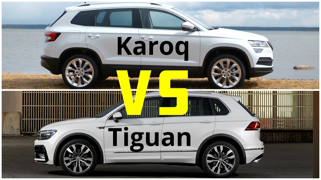 skoda karoq vs volkswagen tiguan autonytt. Black Bedroom Furniture Sets. Home Design Ideas