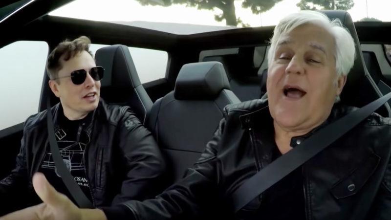 Elon Musk and Jay Leno