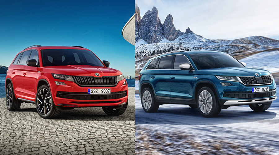skoda kodiaq sportline och scout autonytt. Black Bedroom Furniture Sets. Home Design Ideas