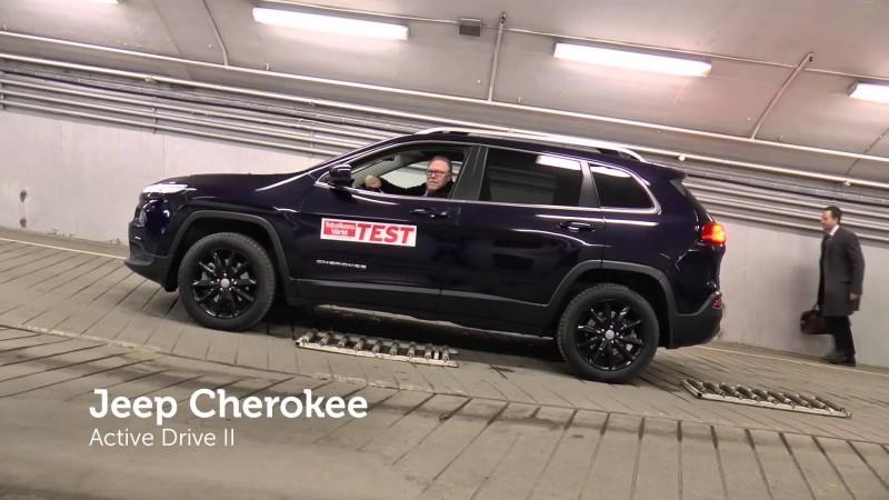 Test av fyrhjulsdriften i fyra populära SUV:ar
